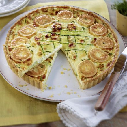 Zucchini-Ziegenkäse-Tarte Rezept