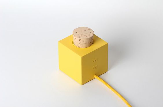 3 | An Adorable Square Speaker Activated By A Cork Plug | Co.Design: business + innovation + design