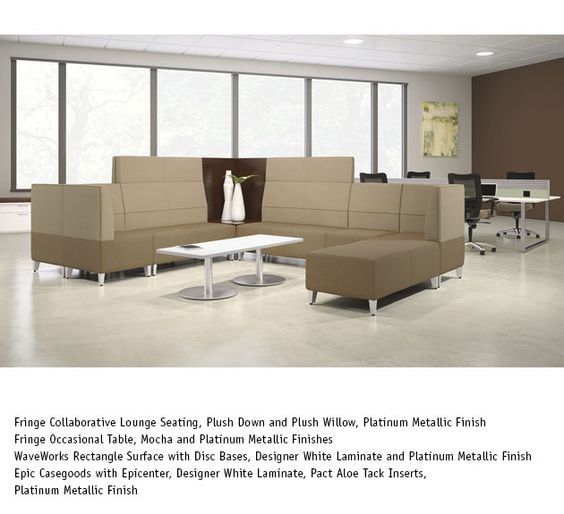 National office furniture fringe lounge seating in Collaborative office interiors houston