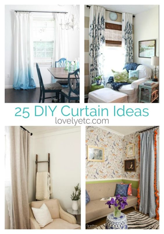 These 25 amazing DIY curtain ideas will give you tons of inspiration to update your home without spending a lot of money. Learn how to create curtains in the exact color, fabric, size, and shape you need without spending a lot of money.