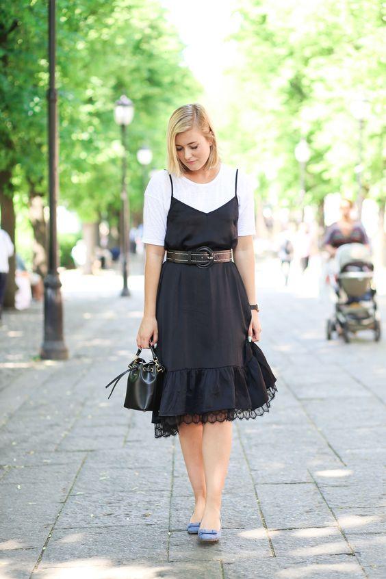 outfit zara lace dress saint laurent black summer-1758