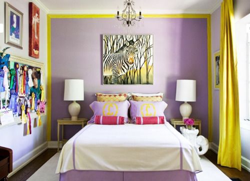 .: Girl Room, Wall Color, Kids Room, Girls Room, Purple Wall, Accent Wall, Teen Room
