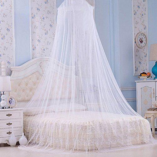 Ledyoung moustiquaire ciel de lit filet rideau d me pour lit double protection insectes - Rideau ciel de lit ...
