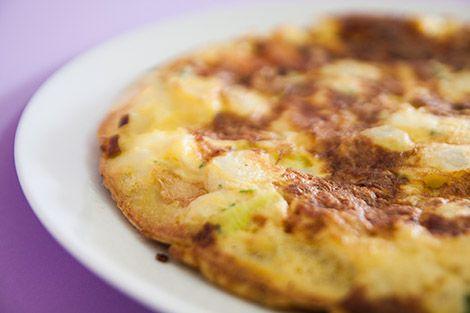 Tortilha de Alho Francês | SaborIntenso.com