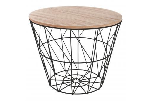 Table Basse Beige Avec Structure Filaire En Acier Noir Kumi Table Basse Pas Cher Bout De Canape Scandinave Bout De Canape Table Basse