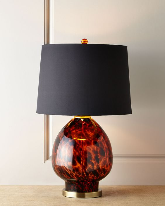 Tobias Tortoise Glass Table Lamp, Brown - Neiman Marcus: