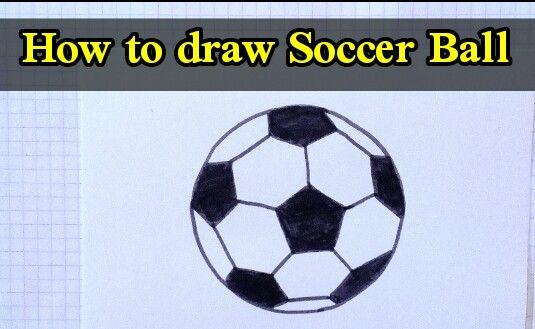 How To Draw Soccer Ball Soccer Ball Soccer Ball