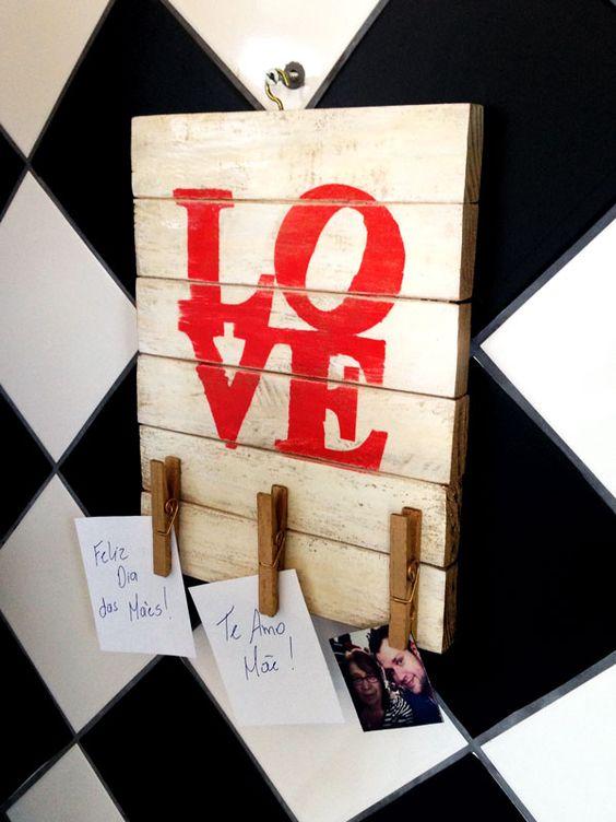 Casa de Colorir: Presente para o Dia das Mães: porta recados cheio de amor!: