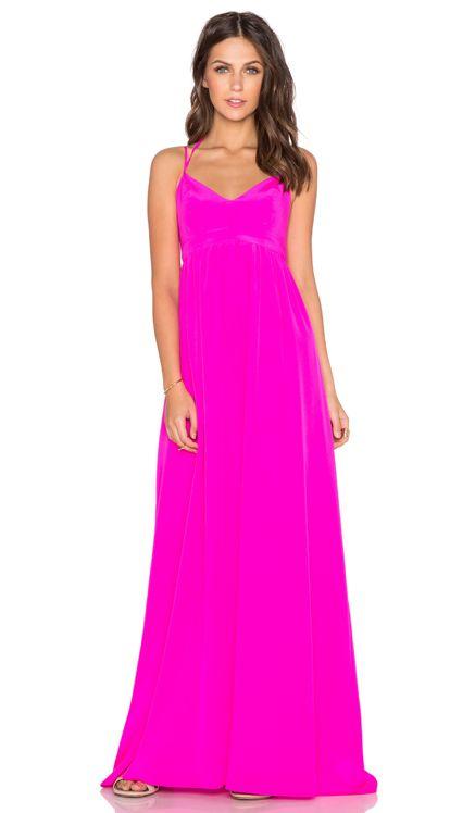 Amanda Uprichard Kingston Gown in Hot Pink Light | REVOLVE