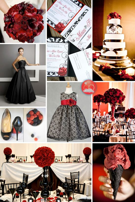 41 Best Wedding Red Black Images On Pinterest Marriage Weddings And Gothic