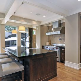 Transitional Kitchen By Bruce Johnson Associates Interior Design Sico Paint Oyster Mushroom