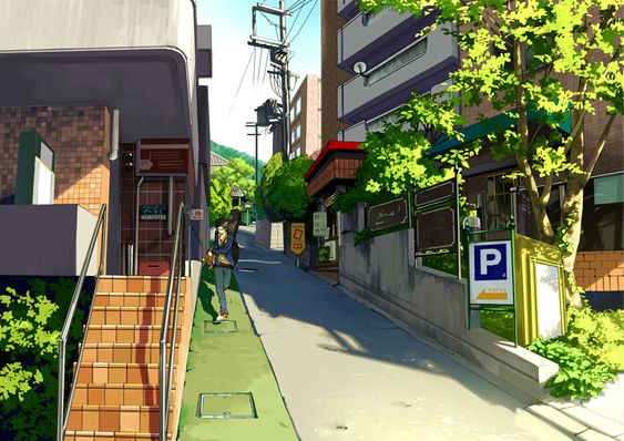 Anime scenery- buildings (houses)