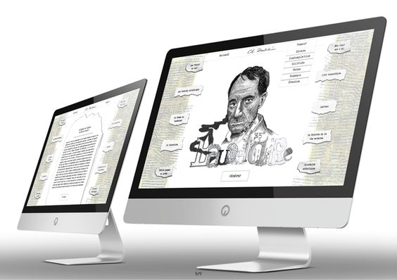 """For this project I created an ABC-book and a portrait to highlight the theme of false pretense through the work of Charles Baudelaire """"Les Paradis Artificiels"""". At the end I created a web site dedicated to the entire artwork of Charles Baudelaire. This is a random generator of poem to discover the entire artwork of Baudelaire."""