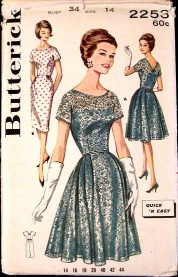 1960's lace dress pattern