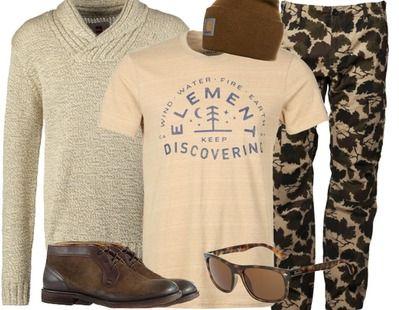 Lässiges Outfit in Beige für kalte Frühlingstage. stylefruits Inspiration