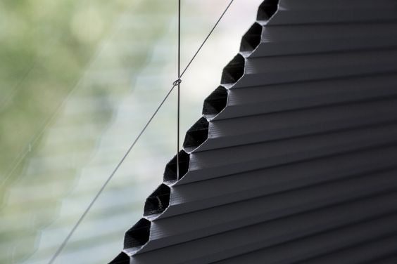 Electric Blackout Duette Pleated Triangular Gable Blinds