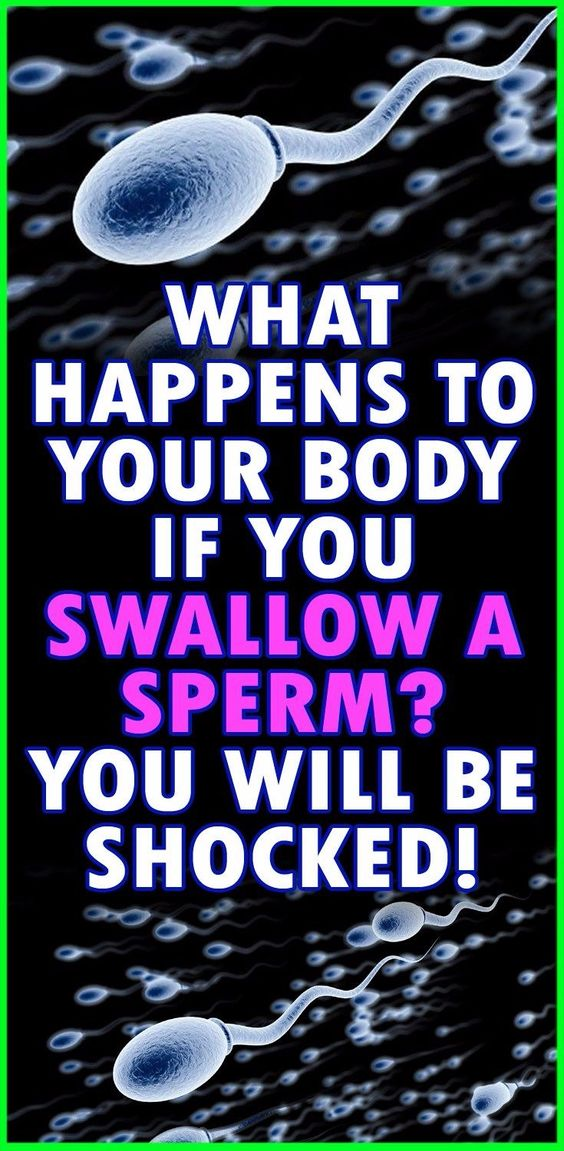 what happens when you swallow cum