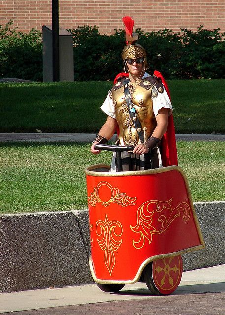 Segway as a Roman chariot. This is brilliant!!!