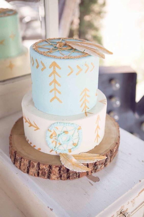 Bohemian Tribal Birthday Cakes