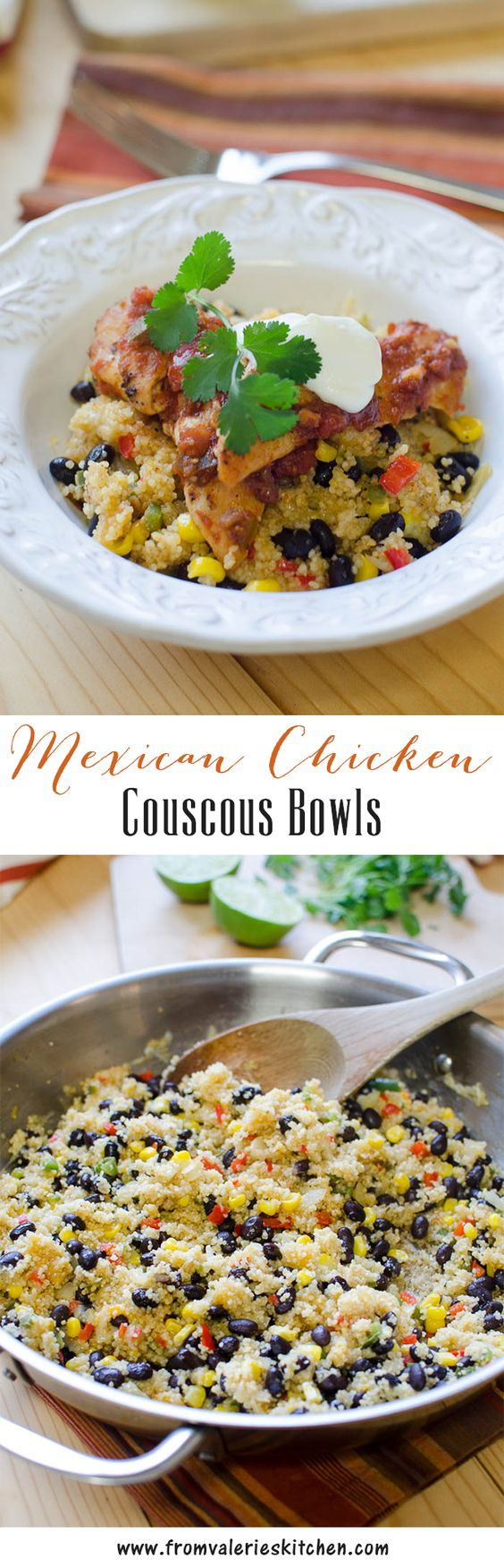A wholesome, Mexican-inspired chicken couscous dish that is ready in under 30 minutes! ~ @sargentocheese #ChoppedAtHome