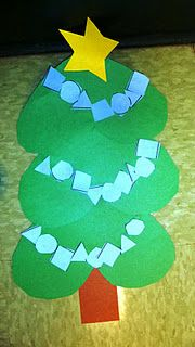 Heart Christmas tree  ornaments are shapes and in a pattern