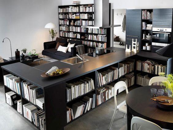 une cuisine int gr e au s jour cuisine ikea cuisine and. Black Bedroom Furniture Sets. Home Design Ideas