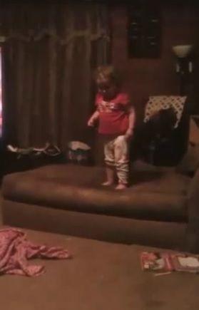 Youtube video - Baby Jump Fail - watch until the end...fail at 1 min 15 secs