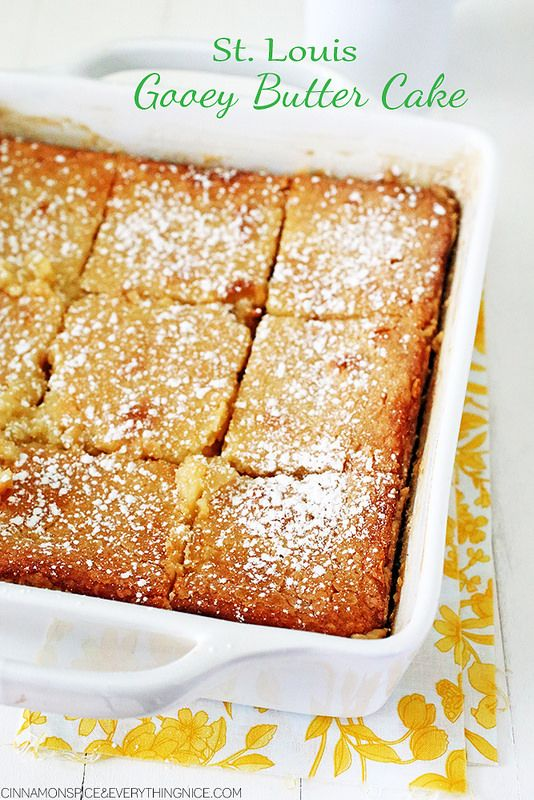 Butter cakes, Gooey butter cake and Butter on Pinterest