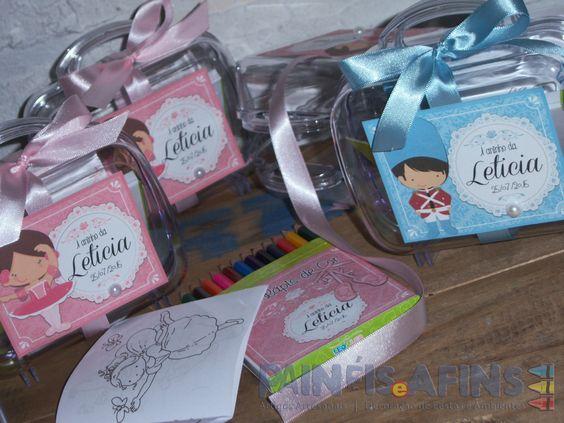 Kit Colorir personalizados #bailarina #abailarinaeosoldadinho #festainfantil