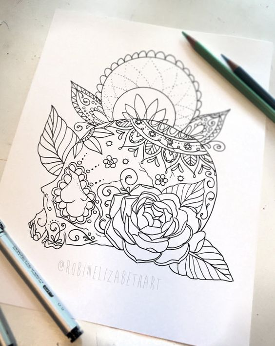 Marvelous Print Your Own Coloring Book 70 Sugar Skull Adult