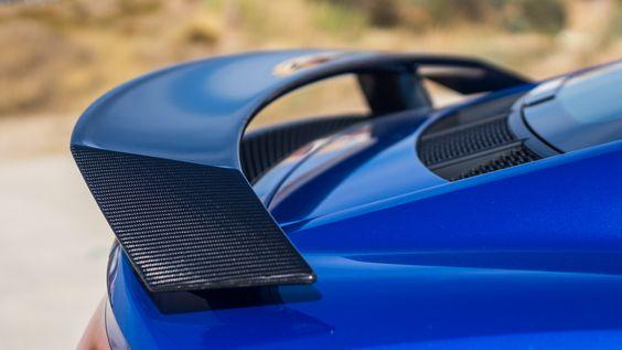 Lovely: the rear spoiler of the Audi R8 V10 plus