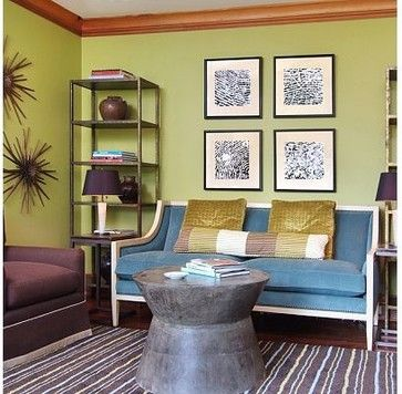 Transitional Settee Living Design Ideas, Pictures, Remodel and Decor