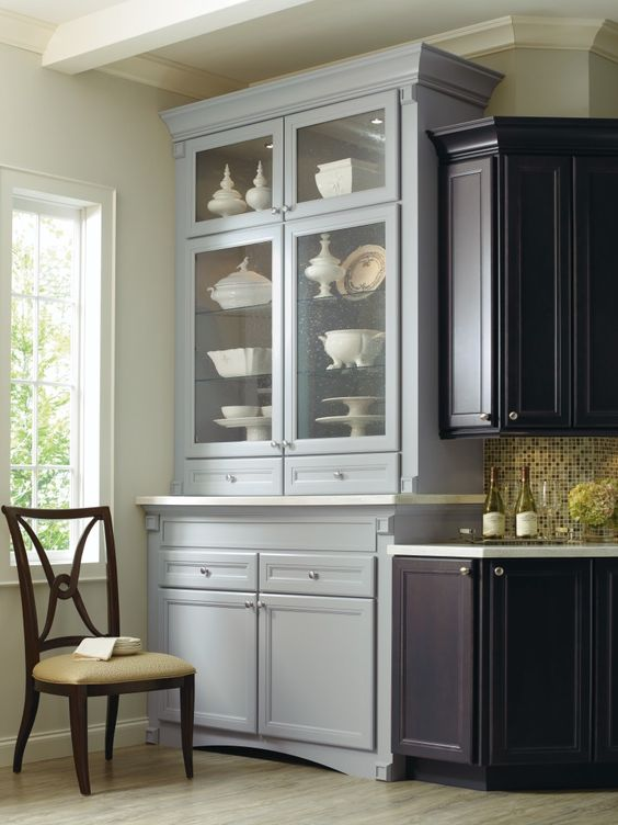 Corina maple kitchen shown in graphite and niagara by for Thomasville kitchen cabinets