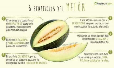Beneficios del melón.