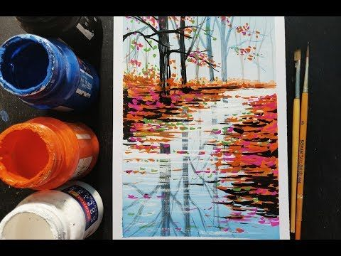 Easy Poster Colour Painting Ideas Step By Step For Beginners Youtube Poster Color Painting Poster Colour Watercolor Background