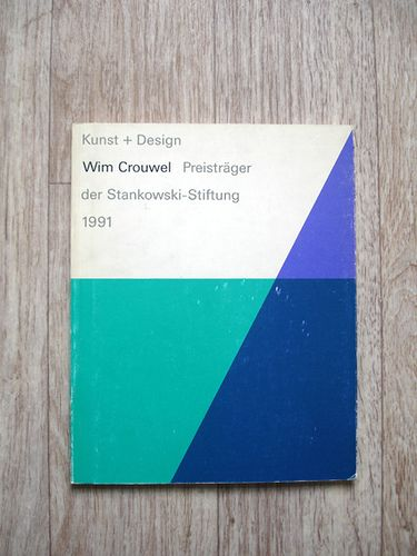 Wim Crouwel  Cover of a publication produced when Wim Crouwel won the Stankowski-Stiftung award in 1990.