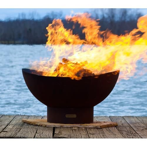 36 Scallop Fire Pit Fire Pit Art Outdoor Fire Wood Burning Fire Pit