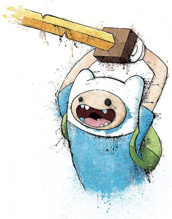 """Adventure Time's """"Trouble Will Find Me"""" - 12x18 Officially Signed, Dated and Hand-Stamped Art Print"""