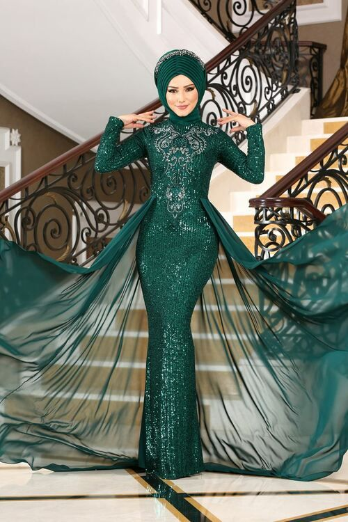 Modaselvim Abiye Pul Payetli Balik Abiye Alm52724 Zumrut Dresses Evening Gown Dresses Evening Dresses