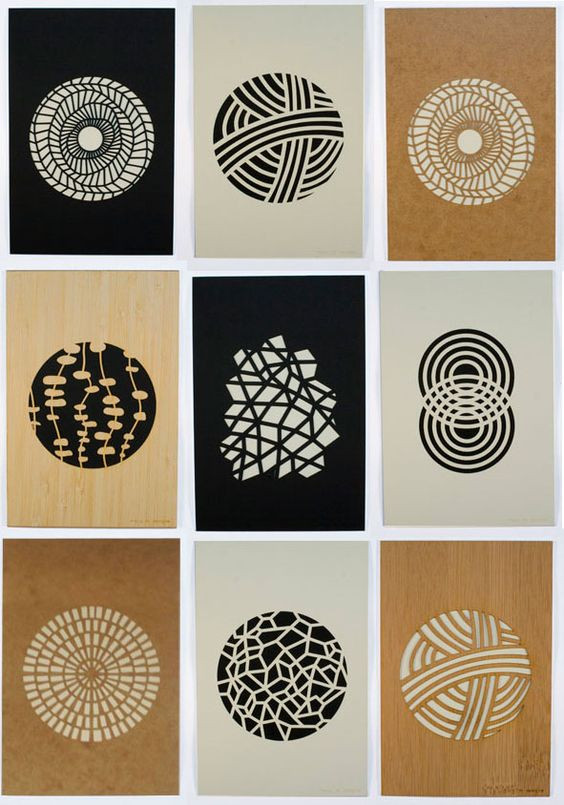 beautiful understated laser cut prints