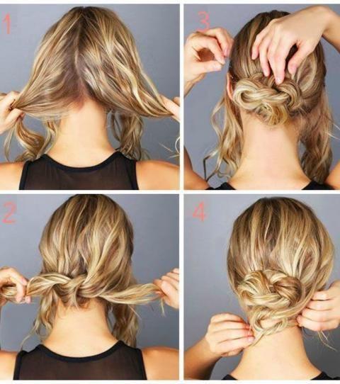 Chignon 15 Idees De Chignons Faciles A Faire Soi Meme Chignon Flou Tuto Chignons Bas Cheveux Courts Chignon Facile