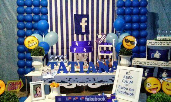 Decoração festa Facebook por Nick Provençal Késia