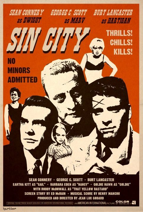 sin city (in the sixties) by Sean Hartter