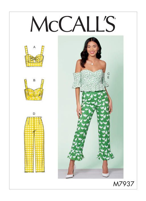 Simplicity Sewing Pattern 8880 Misses Ruched Tops with Back Closure