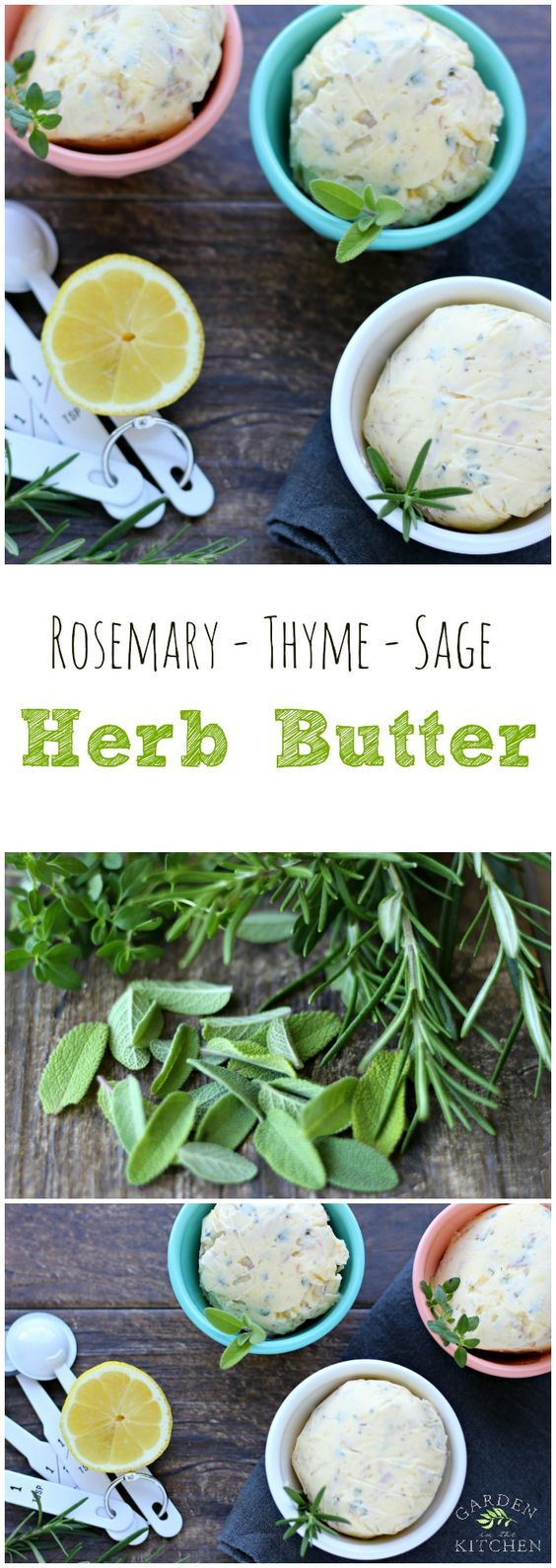This Herb Butter is a convenient way to quickly add flavor to your cooking | gardeninthekitchen.com