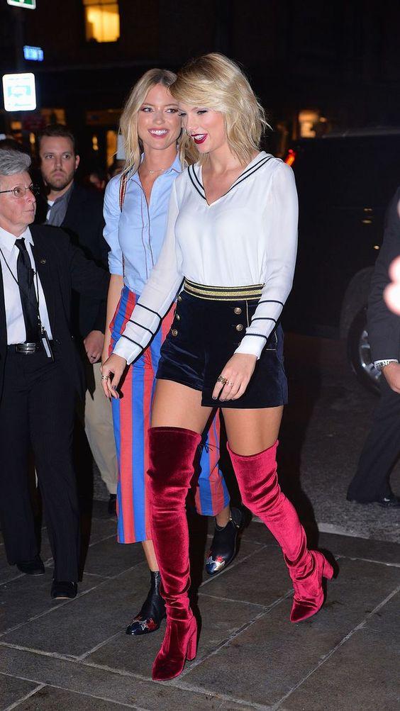 Taylor Swift arrive au défilé Tommy Hilfiger automne 2016 à New York