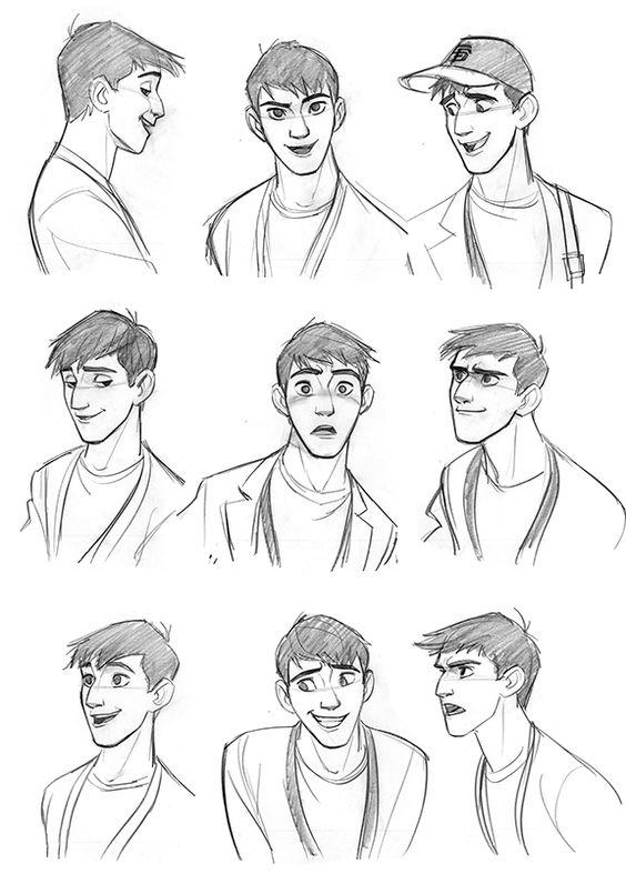Tadashi expressions by Jin Kim • (www.cosmoanimato.tumblr.com)