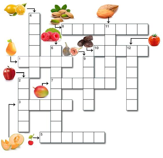 Mots fl ch s faciles imprimer les fruits jeux pour for Cuisine americaine mots croises