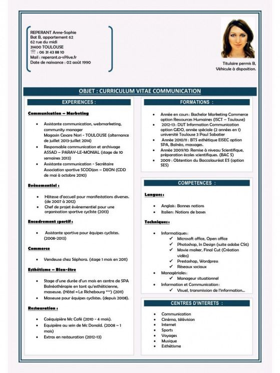 Cv Anne Sophie Reperant 20032014 Pdf Par User Fichier Pdf Career Career Motivation Resume Format For Freshers Resume Pdf Resume Format Download