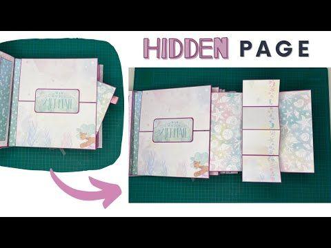 Hidden Page In A Scrapbook With Mini Twist Pop Up Card Tutorial Scrapbook Page Ideas You Mini Scrapbook Albums Scrapbook Albums Tutorial Diy Mini Album